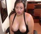 Free sex live webcam  with scarlett-sax. Brunette with big boobs
