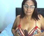 Live sex cam show  with ZamiraMilf. Brunette with huge breasts